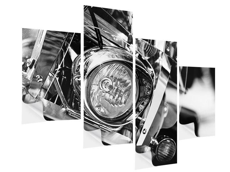 Klebeposter 4-teilig modern Motorrad Close Up