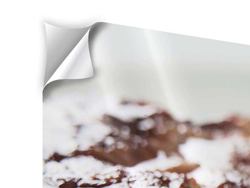 Klebeposter 4-teilig modern Perfektes Rindsfilet