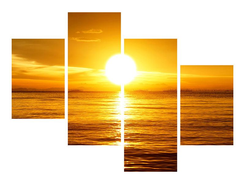 Klebeposter 4-teilig modern Traumhafter Sonnenuntergang