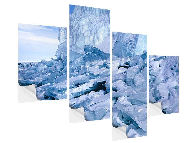 Klebeposter 4-teilig modern Eislandschaft Baikalsee
