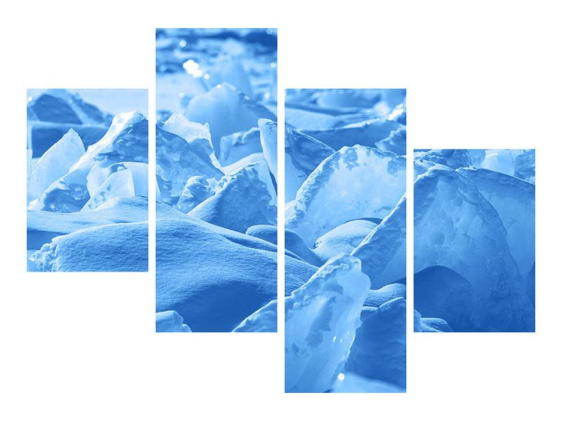 Klebeposter 4-teilig modern Eis des Baikalsees