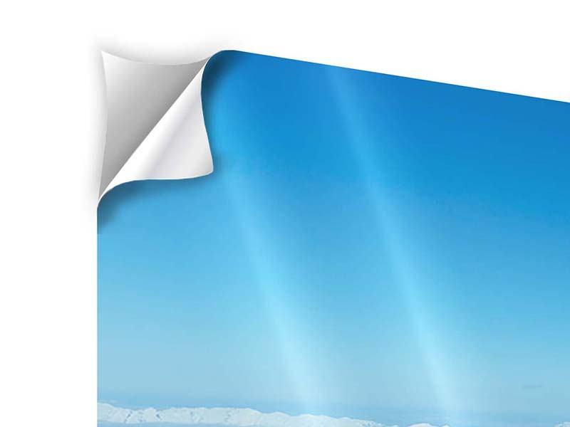 Klebeposter 4-teilig modern Über den Wolken