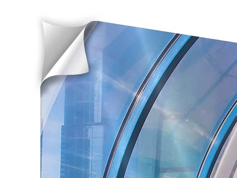 Klebeposter 4-teilig modern Hypermoderne Brücke