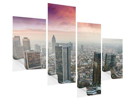 Klebeposter 4-teilig modern Skyline Penthouse in New York