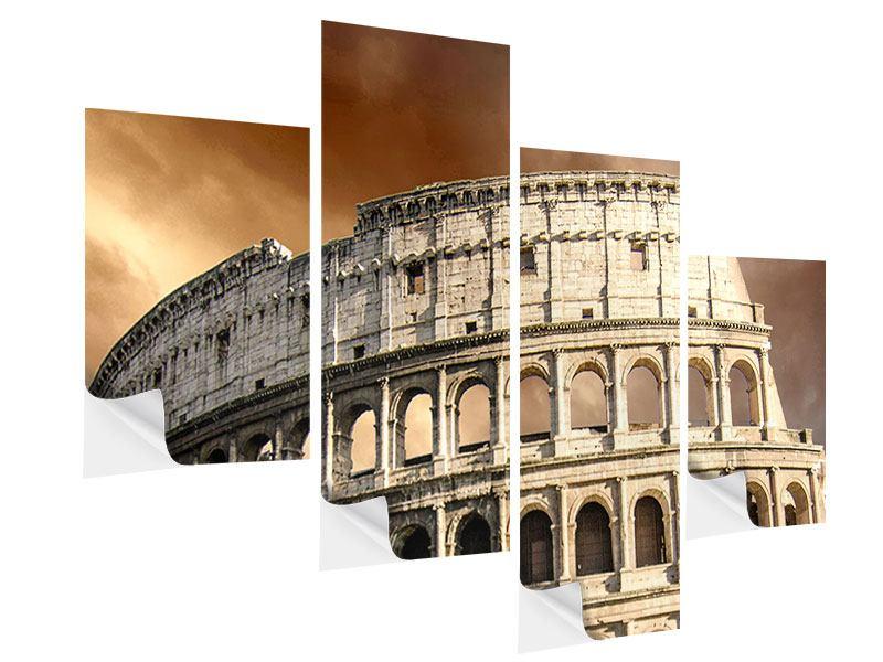 Klebeposter 4-teilig modern Kolosseum Rom