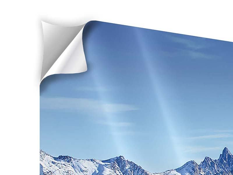 Klebeposter 4-teilig modern Gipfelspitzen
