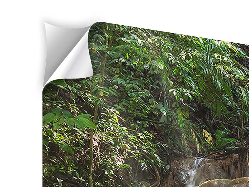 Klebeposter 4-teilig modern Mexikanischer Wasserfall