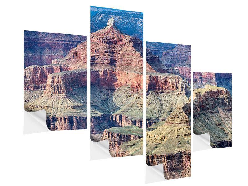 Klebeposter 4-teilig modern Gran Canyon