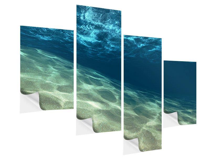 Klebeposter 4-teilig modern Unter dem Wasser