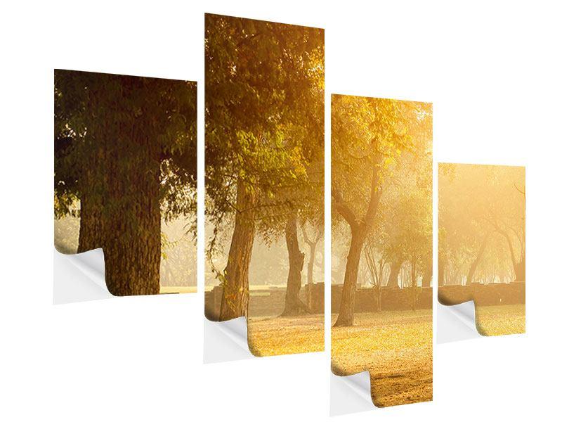 Klebeposter 4-teilig modern Romantik unter Bäumen
