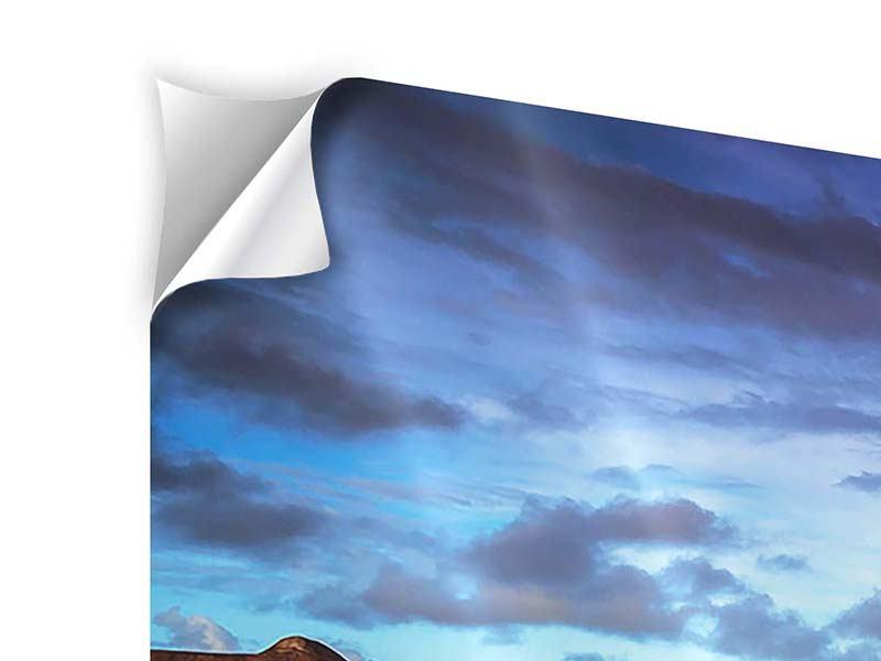 Klebeposter 4-teilig modern Traumhaus im Wasser