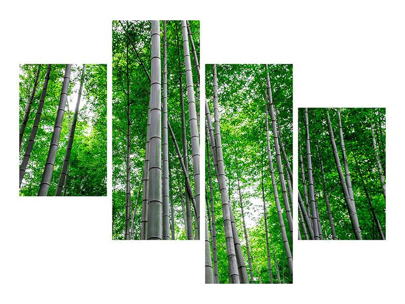 Klebeposter 4-teilig modern Bambuswald