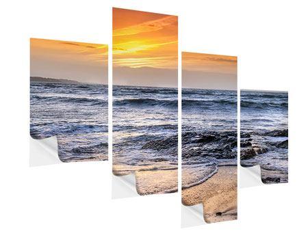 Klebeposter 4-teilig modern Das Meer