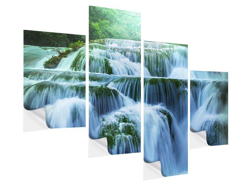 Klebeposter 4-teilig modern Gigantischer Wasserfall