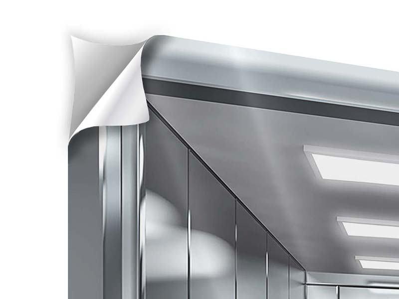 Klebeposter 4-teilig Aufzug