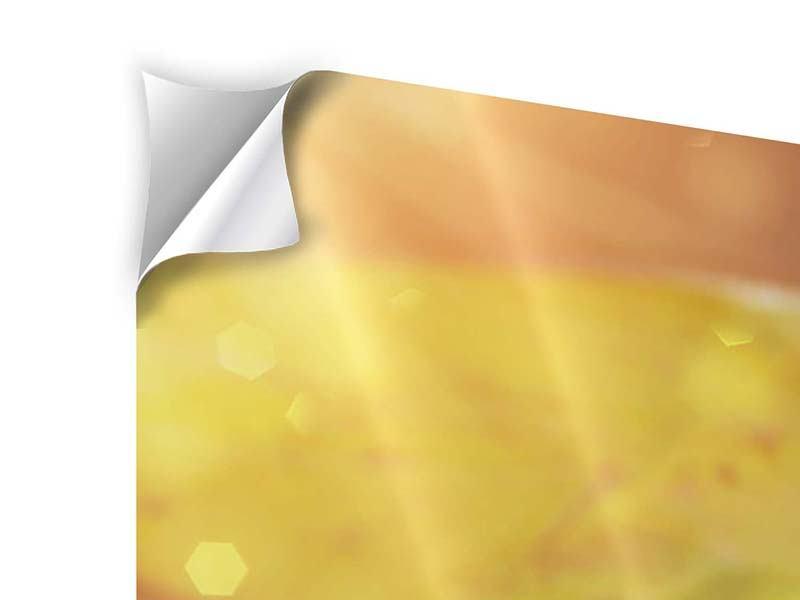 Klebeposter 4-teilig Seerose