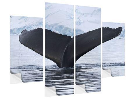 Klebeposter 4-teilig Der Buckelwal