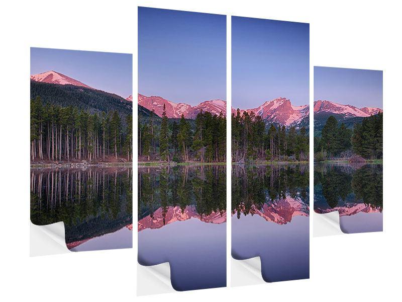 Klebeposter 4-teilig Sprague Lake-Rocky Mountains