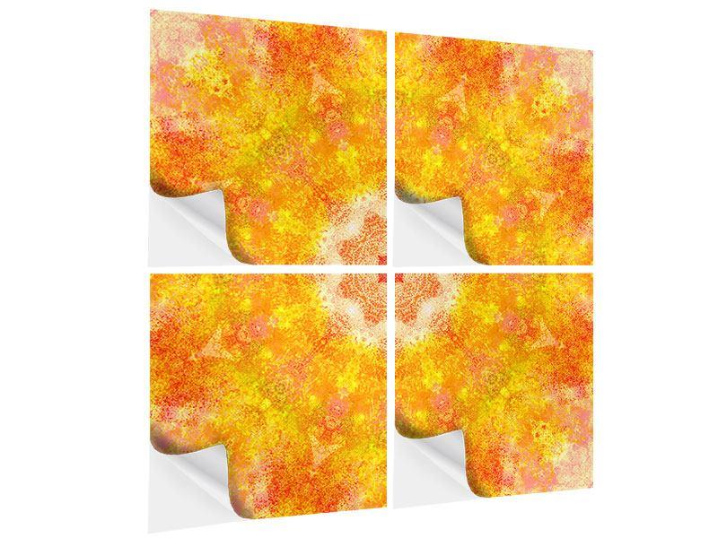 Klebeposter 4-teilig Star