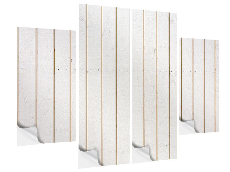 Klebeposter 4-teilig Mediterranes Holz