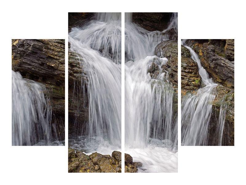 Klebeposter 4-teilig Wasserfall XXL