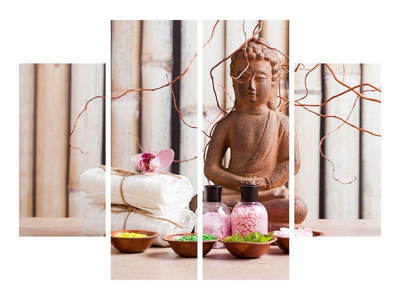 Klebeposter 4-teilig Buddha + Wellness