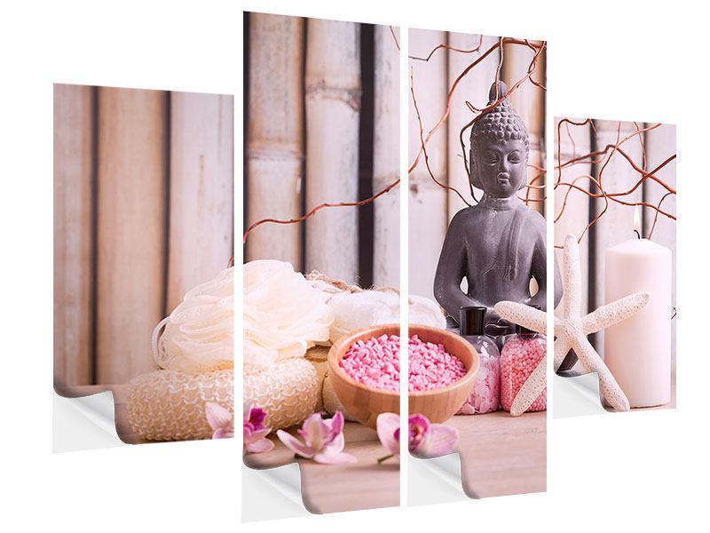 Klebeposter 4-teilig Spa + Buddha