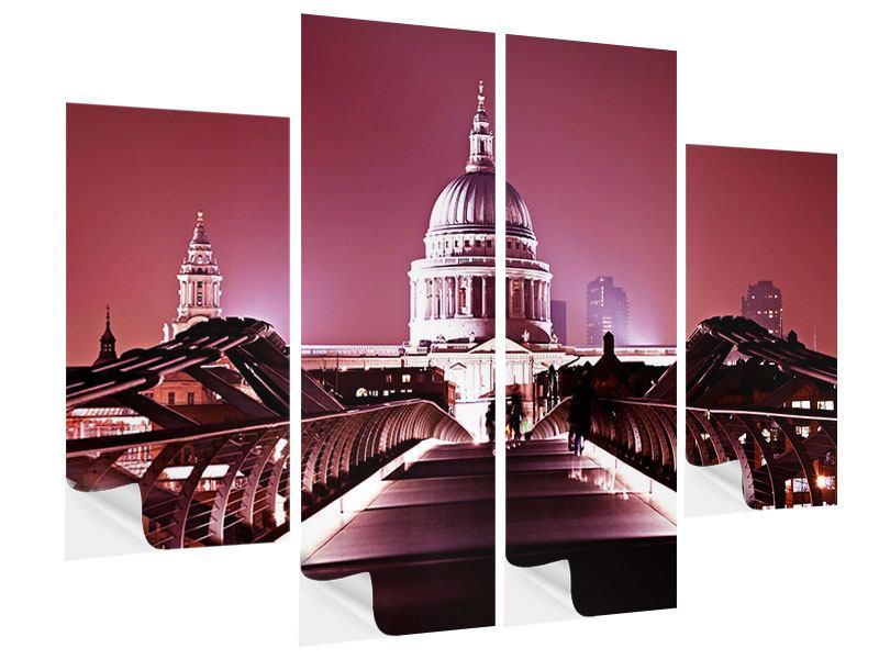 Klebeposter 4-teilig Millennium Bridge