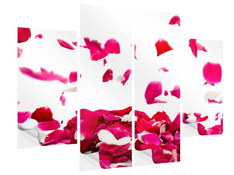 Klebeposter 4-teilig Für mich soll`s rote Rosen regnen