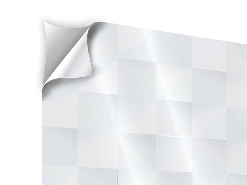 Klebeposter 4-teilig 3D-Schachbrett