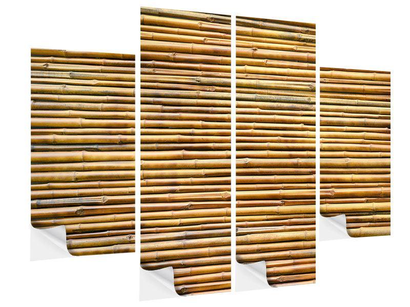 Klebeposter 4-teilig Bambus
