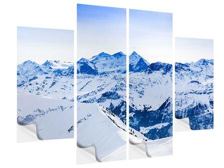 Klebeposter 4-teilig Die Schweizer Alpen