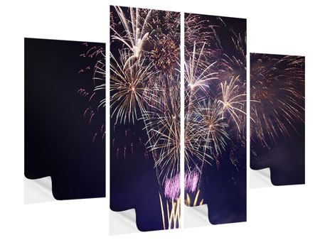 Klebeposter 4-teilig Feuerwerk