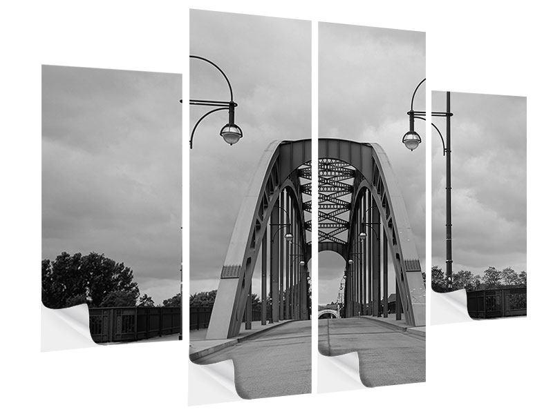 Klebeposter 4-teilig Poetische Brücke