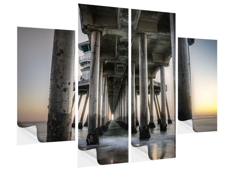 Klebeposter 4-teilig Brückenpfeiler