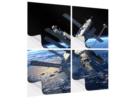 Klebeposter 4-teilig Raumstation