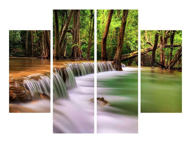Klebeposter 4-teilig Deep Forest