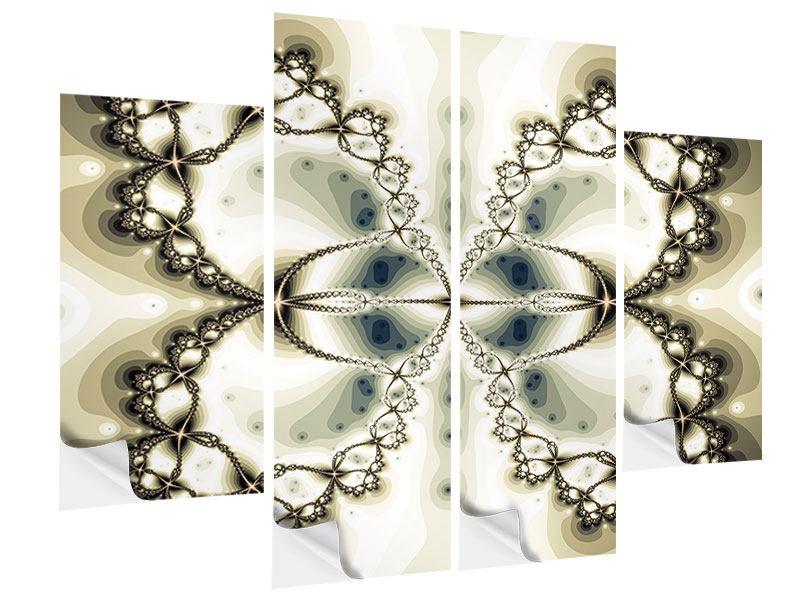 Klebeposter 4-teilig Abstrakter Schmetterling