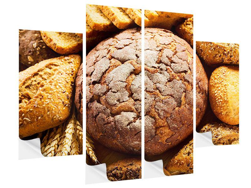 Klebeposter 4-teilig Brotsortiment