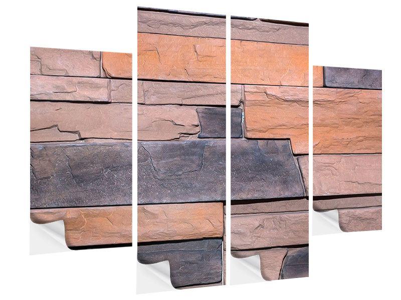 Klebeposter 4-teilig Wall