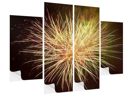 Klebeposter 4-teilig Feuerwerk XXL