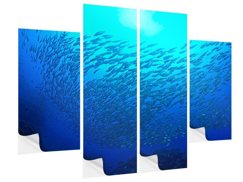 Klebeposter 4-teilig Fischwelt