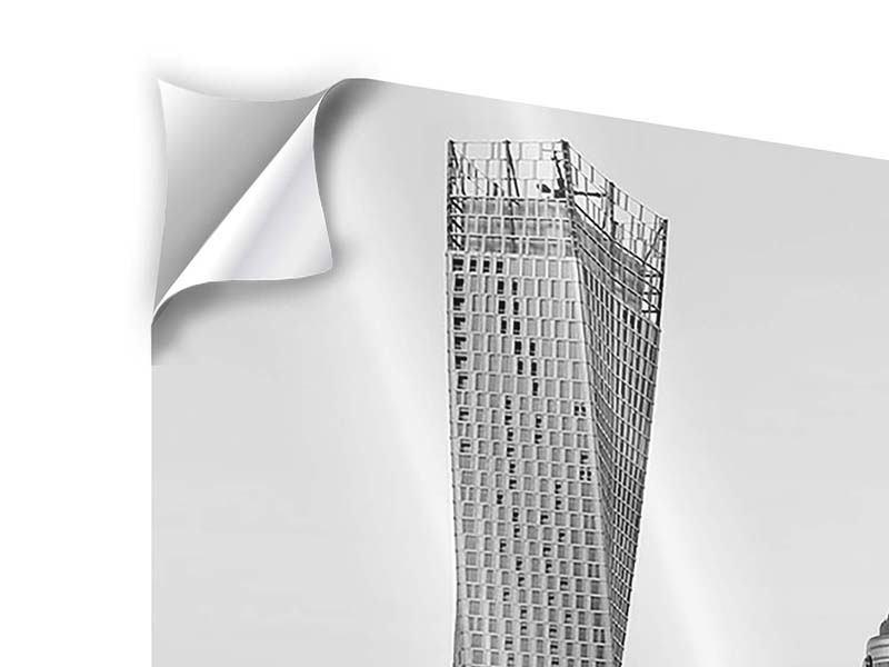 Klebeposter 4-teilig Majestätische Wolkenkratzer in Dubai