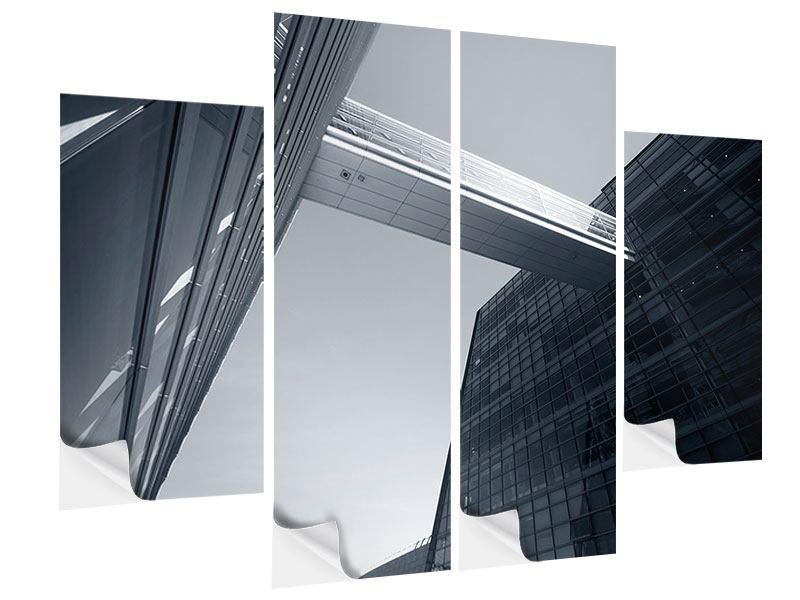 Klebeposter 4-teilig Der schwarze Diamant Kopenhagens