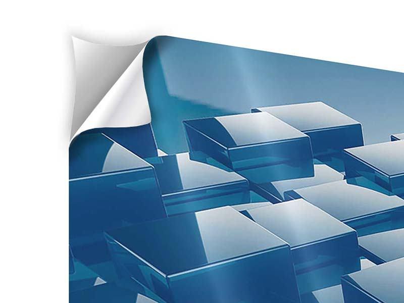 Klebeposter 4-teilig 3D-Cubes