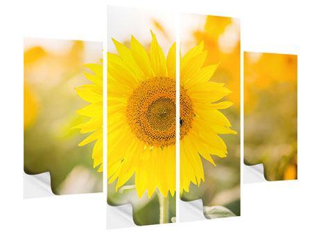 Klebeposter 4-teilig Sunflower