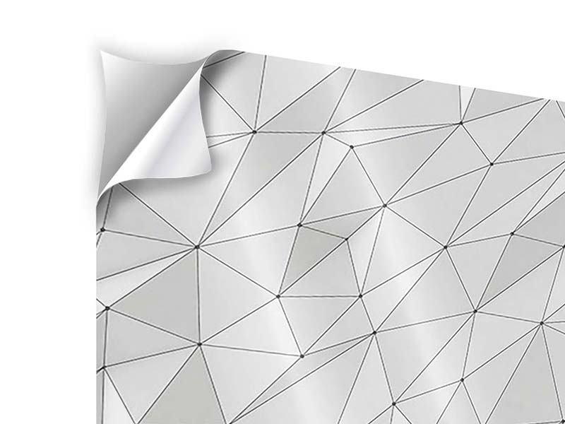 Klebeposter 4-teilig 3D-Geo