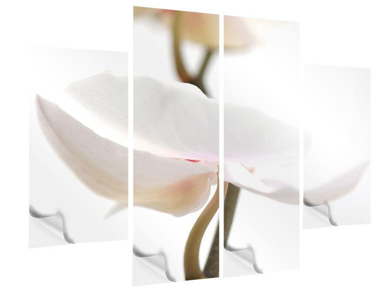 Klebeposter 4-teilig XXL Orchideenblüte