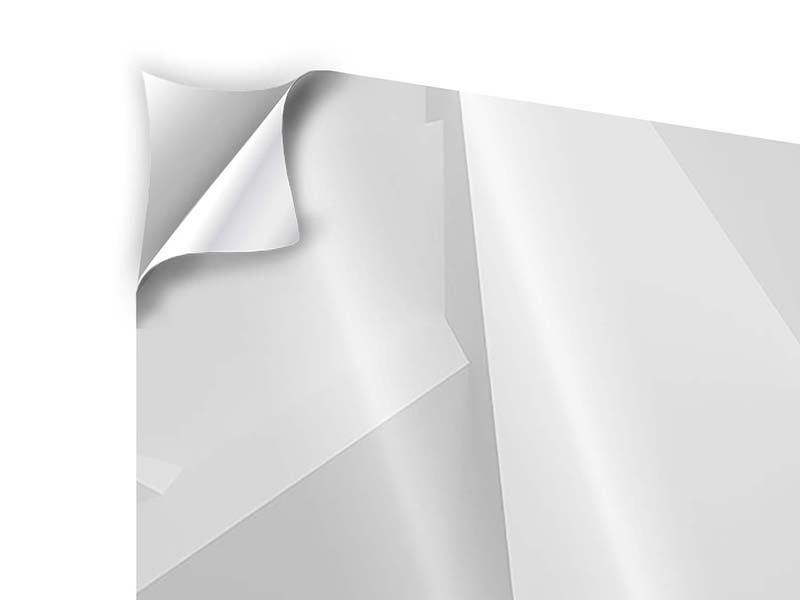Klebeposter 4-teilig 3D-Raster