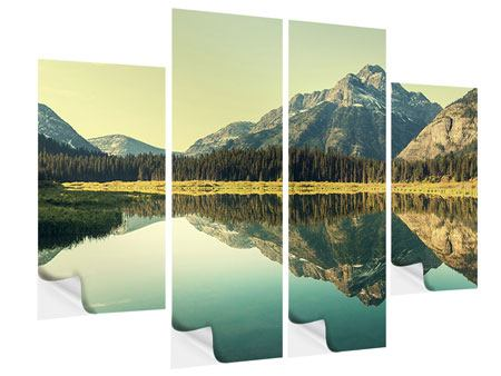 Klebeposter 4-teilig Der Bergsee